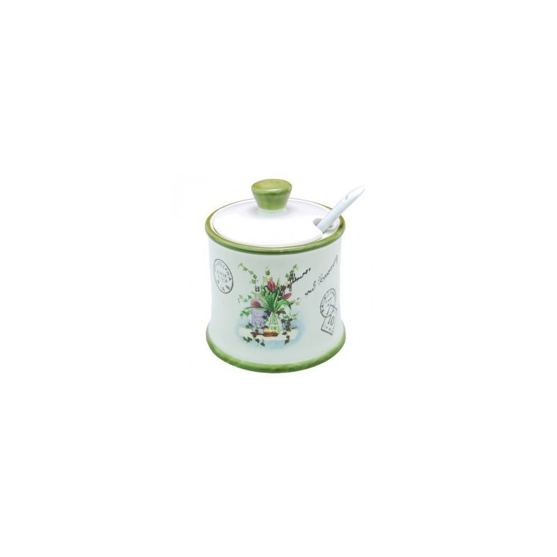 Keramikinė cukrinė su šaukšteliu Maestro