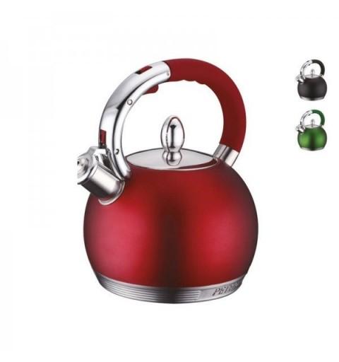 Aukštos kokybės nerūdijančio plieno arbatinukas-virdulys su švilpuku Peterhof