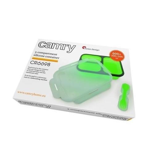 Silikoninis indas-talpykla maistui su šakute-šaukšteliu CAMRY