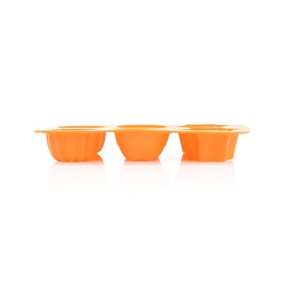 Silikoninė kepimo forma su trijų skirtingų formų duobutėmis Maistinio Silikono Formos TIROSS