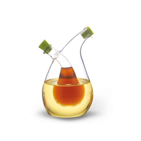 FISSMAN Buteliukas aliejui ir actui 2 viename 75/350 ml (stiklas)